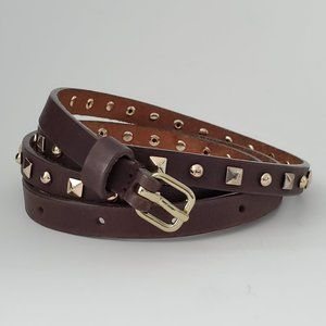 J. Crew Studded Skinny Leather Belt, Large